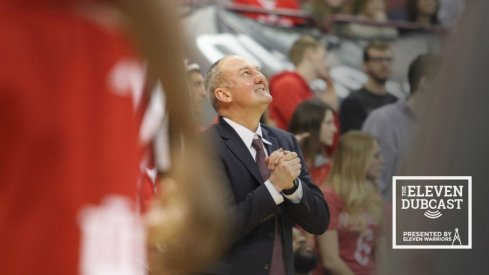 Ohio State basketball coach Thad Matta wrings his hands during a game