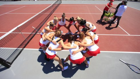 Ohio State women's tennis after a 4-0 win over Buffalo at the 2017 NCAA tournament.