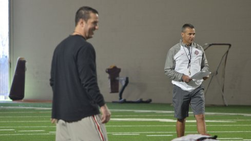 Luke Fickell and Urban Meyer at Ohio State.