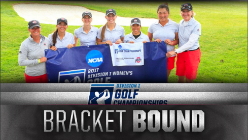 The women's golf team clinches a spot in the final eight on Tuesday.