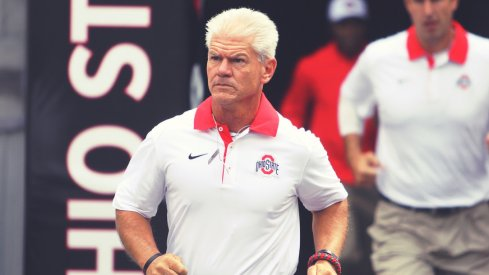 Ohio State cornerbacks coach Kerry Coombs takes the field.