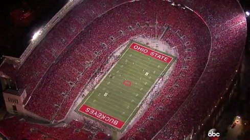 An exact representation of how Ohio Stadium will look when Oklahoma comes in on Sept. 9.
