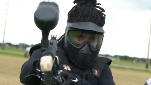 Buckeyes went paintballing this week.