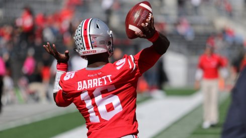 J.T. Barrett's miscues as a passer have rarely been due to technique