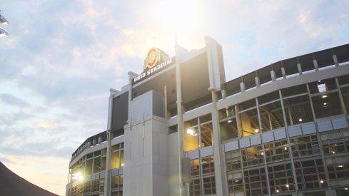 Ohio Stadium in the sun