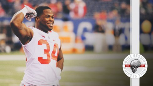 Carlos Hyde swolls up for the June 12th 2017 Skull Session