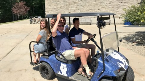 Thad Matta and his family at Butler on Friday