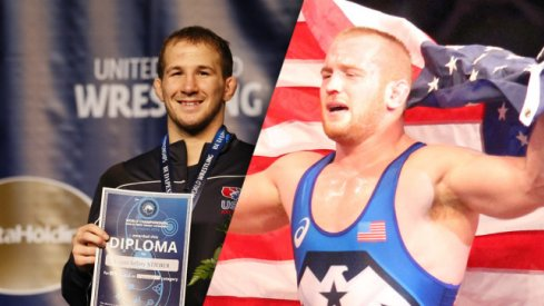 2017 World Team members Logan Stieber and Kyle Snyder