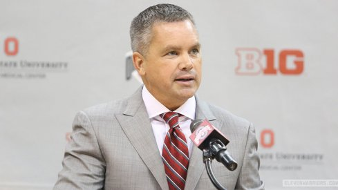 Ohio State coach Chris Holtmann addresses the media during his introductory press conference.
