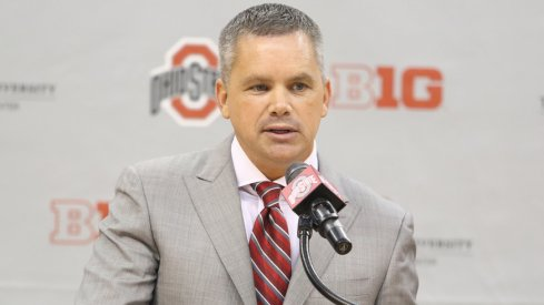 New Ohio State coach Chris Holtmann takes the podium for the first time.