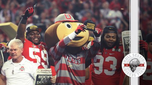 Brutus and Kerry Coombs celebrate the 2014 championship for the June 19 2017 Skull Session