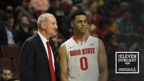 Former Ohio State coach Thad Matta and former Ohio State player D'Angelo Russell
