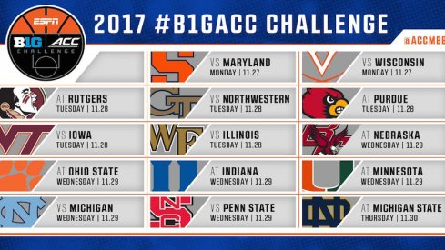 The Big Ten ACC Challenge Schedule
