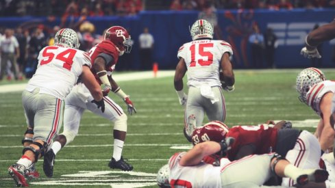 Zeke Elliott's 85 Yards Through the Heart of the South served as the exclamation point in Ohio State's comeback win over Alabama in the 2015 Sugar Bowl.