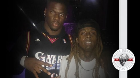 Jerome Baker and Lil Wayne prepped for the July 13 2017 Skull Session