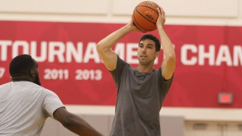 Former Ohio State guard Jon Diebler practices for The Basketball Tournament.
