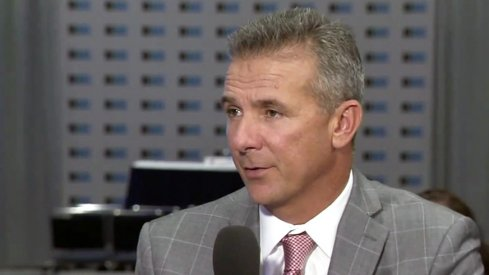 Urban Meyer speaking with BTN analysts at Big Ten Football Media Days