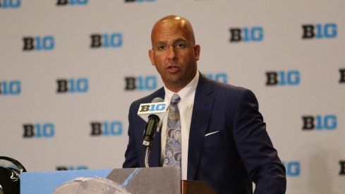 "Penn State coach James Franklin says the Nittany Lions ""still have a lot of work to do."""