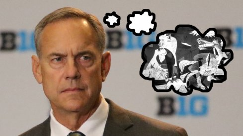Michigan State head coach Mark Dantonio's inner thoughts during Big Ten Media Days