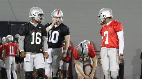 Joe Burrow, Tate Martell and Dwayne Haskins will have to wait their turn.