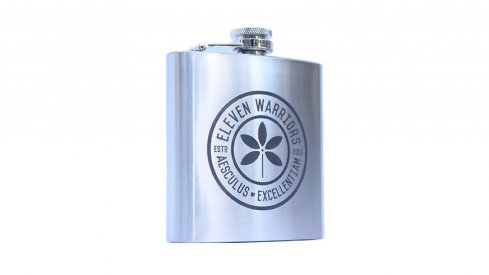 The stainless steel Eleven Warriors flask