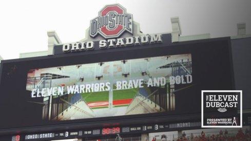 The scoreboard of Ohio Stadium.