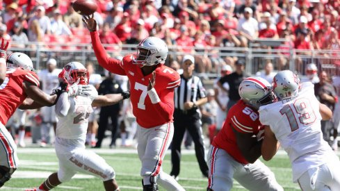 Dwayne Haskins helped Ohio State set multiple passing records on Saturday.