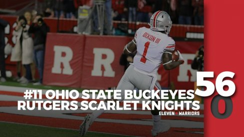 Statagram: Ohio State 56, Rutgers 0