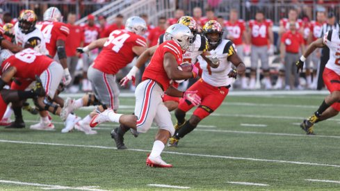 J.K. Dobbins and Mike Weber found lots of running room outside the tackles in Ohio State's big win over Maryland.