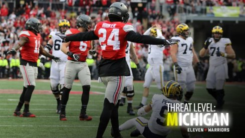 Ohio State defensive back Malik Hooker wipes out Michigan in 2016.