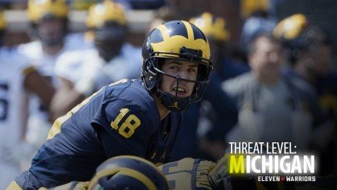 Michigan quarterback Brandon Peters