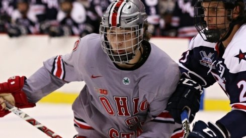Ohio State forward and Philadelphia Flyers prospect Tanner Laczynski is NCAA hockey's First Star of the Week.