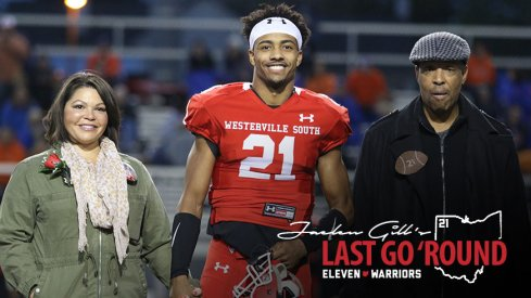Jaelen Gill and his parents, Rod and Shelly
