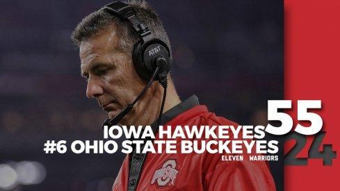 Statagram: Iowa 55, Ohio State 24