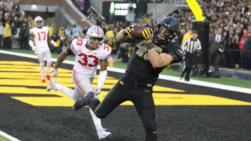 Dante Booker was one of a number of Buckeye defenders who had a day to forget in Iowa City.