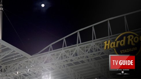 Nov 4, 2017; Miami Gardens, FL, USA; A full moon is seen over Hard Rock Stadium during a game between the Virginia Tech Hokies and the Miami Hurricanes. Mandatory Credit: Steve Mitchell-USA TODAY Sports