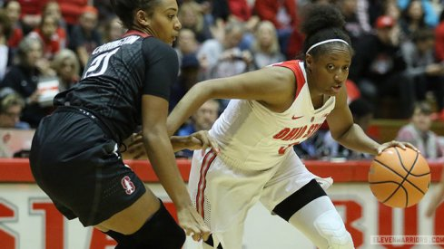 Kelsey Mitchell passed Katie Smith on Ohio State's all-time scoring list.