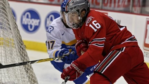 Matt Weis' three points led Ohio State men's hockey in its victory over Connecticut.