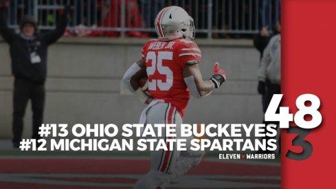 Statagram: Ohio State 48, Michigan State 3