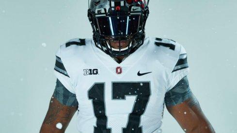 Ohio State's white alternate uniform