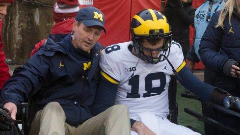 Brandon Peters leaves Wisconsin game