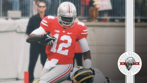 Cardale Jones baptizes a Michigan Man for the November 20th Skull Session