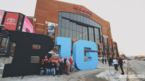 Lucas Oil Stadium in Indianapolis, home of the Big Ten Championship game.