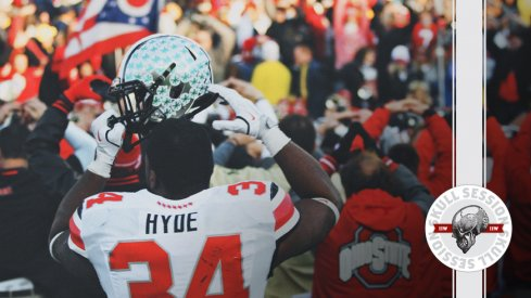 Carlos Hyde O-H-I-O's for the November 23rd 2017 Skull Session