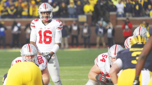 J.T. Barrett and the Buckeyes will look for another win in Ann Arbor on Saturday.