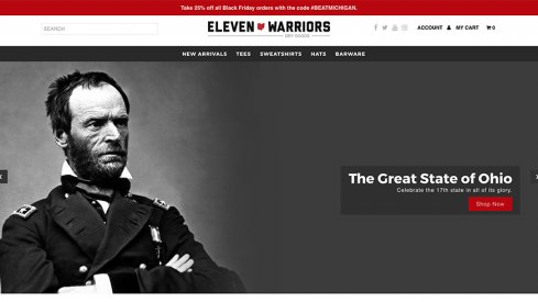 Welcome to Eleven Warriors Dry Goods v2.0