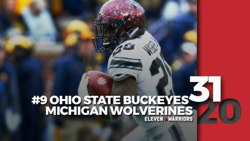 Statagram: Ohio State 31, Michigan 20