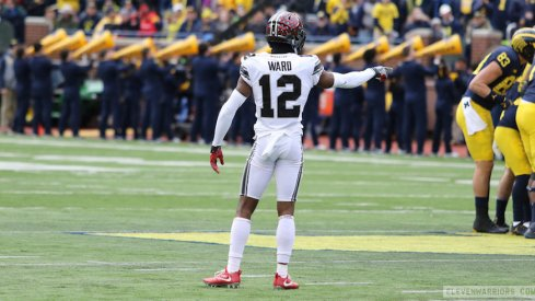 Denzel Ward was Ohio State's defensive MVP on Saturday.
