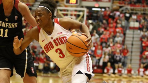 Kelsey Mitchell led all scorers in Ohio State's win over Stanford.