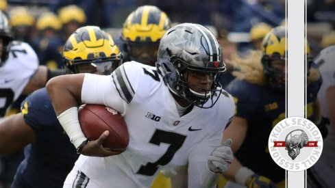 Dwayne Haskins totes the magic diamond for the November 27 2017 Skull Session